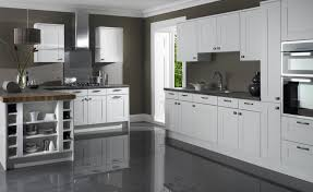 Grey White Kitchen White Kitchen Cabinets Grey Floors Kitchen