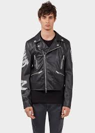 motorcycle style leather jacket versus versace men u0027s jackets u0026 coats us online store