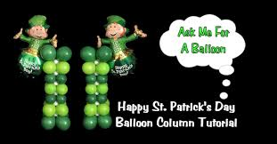 st patrick u0027s day balloon column decoration youtube