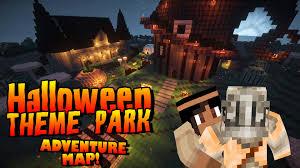 Minecraft 1 8 Adventure Maps Minecraft Halloween Adventure Map Theme Park Minecraft