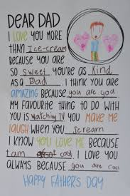 dear dad letter fill in the blanks great for father u0027s day