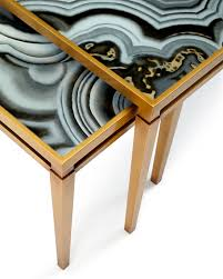 faux agate side table john richard collection nicola painted agate coffee table