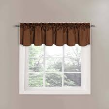 French Country Window Valances Balloon Curtains For Living Room Room Premium Linen Look Roller