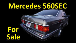 c126 w126 coupe mercedes benz 560sec for sale interior video