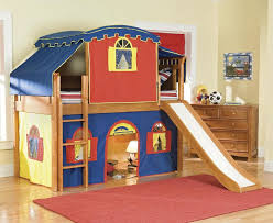 amusing kids basement playground with tent bunk bed decor combined author