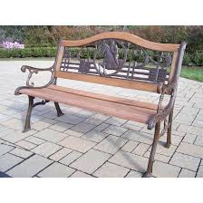 amazon com oakland living horse bench outdoor benches patio