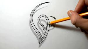 letters designs for tattoos initial g and heart combined together letter tattoo design youtube