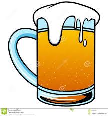 cartoon beer pint cold beer stock vector image 53436029