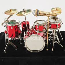 miniature drum set gifts metal craft miniature musical