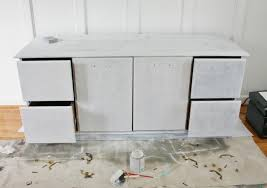 how to paint laminate furniture sand and sisal