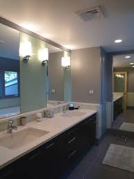 undermount trough sink bathroom modern with double sinks