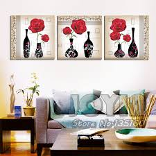 aliexpress com buy classical red rose flower vase oil painting