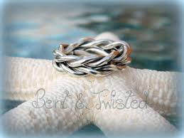 braided band twisted silver band sterling silver braided band and