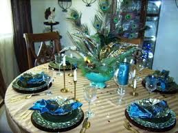 Dining Room Table Setting Dishes Peacock Tablesetting Peacock Tablesetting Dishes At
