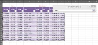 Creating A Pivot Table In Excel How To Create A Pivot Table For A Timesheet Outofhoursadmin
