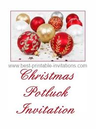 dinner luncheon and potluck invitations