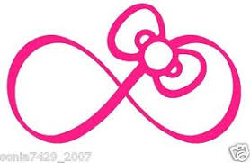 hello bow hello pink bow infinity car truck wall vinyl window decal