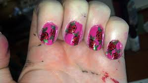 the nail diaries easy rose nail art design everything u0027s coming