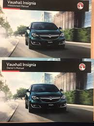 vauxhall insignia owners manual handbook and infotainment guide