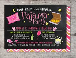 pajama party invitations u2013 gangcraft net