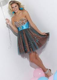 sparkle 71230 turquoise blue coffee brown cocktail dress prom