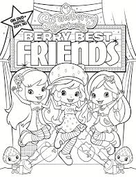 strawberry shortcake friends printable coloring pages