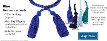 graduation cord blue graduation cords honors graduation