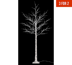 buy collection 6ft 100 white led birch twig tree white at argos