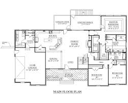 house plans 1 story 4000 square feet floor plans homeca