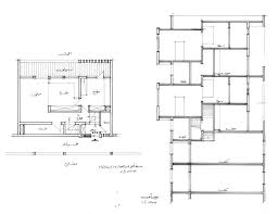 jeddah duplex housing design drawing unit plan and section