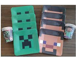 minecraft party supplies minecraft birthday party plates cups tablecover balloons