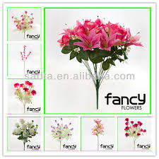 Artificial Lilies In Vase Artificial Orchid Flowers With Glass Vases For Flower Arrangements