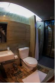 bathroom in a box in a box hostel in bangkok