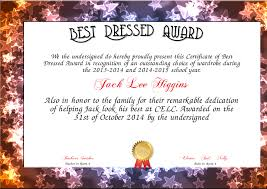 best dressed award certificate colorful kiddo shelter