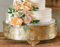 gold cake stands brass gold cake stand 18 inches wedding and party rentals
