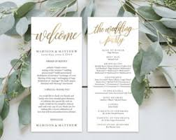 Best Wedding Programs Wedding Programs Etsy