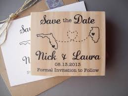 Save The Date Destination Wedding Save The Date Rubber Stamp With Connecting States Or Countries