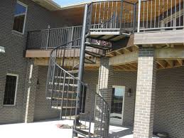 decor black metal spiral staircase for sale for outdoor