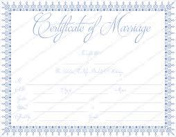 blue bells marriage certificate template