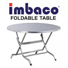 stainless steel folding table imbaco stainless steel foldable round table wrt 10 lazada
