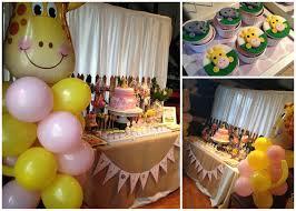 giraffe baby shower decorations real pink yellow giraffe inspired baby shower