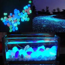 best glow in the dark pebbles stone home decor walkway aquarium