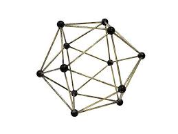 hkliving ornament molecular brass living and co