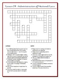 the people lesson 24 worksheet puzzles the federal bureaucracy