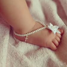 baby jewelry baptism baby barefoot sandals cross jewelry baptism christening gift
