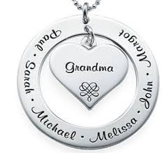 Necklaces With Names Engraved Monogram Mothers Jewelry Carolina Clover