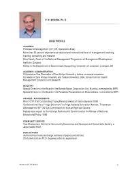 Economics Resume Dr P N Mishra Resume Doctor Of Philosophy Master Of