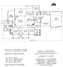 One Story 4 Bedroom House Plans by Clever 1 Story House Plans With Media Room Floorplan Onestory