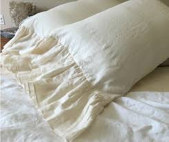 cream mermaid long ruffle duvet cover handcrafted by superior