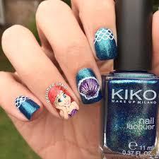 ariel mermaid nail art u2013 polished inka